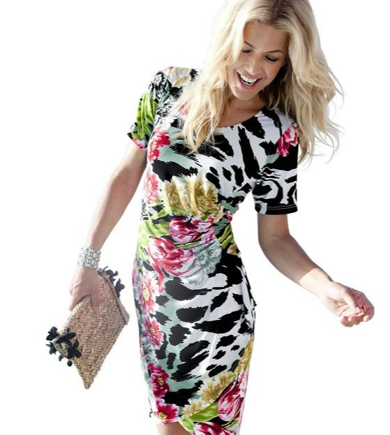 Bright Flower Dress £39.99 WITT International What to Pack in Your Holiday Suitcase   Seasonal Fashion Trends