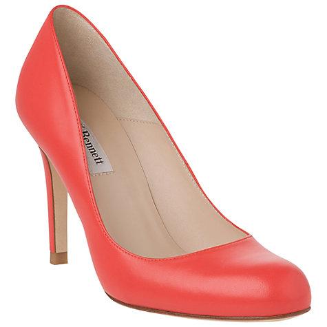 L.K. Bennett Shilo Leather Stiletto Heel Court Shoes, Red £220