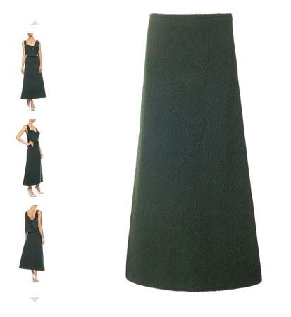 J W Anderson Green Long Wool skirt £495