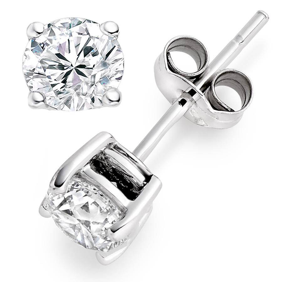 18k White Gold Stud Diamond Earrings £1,347