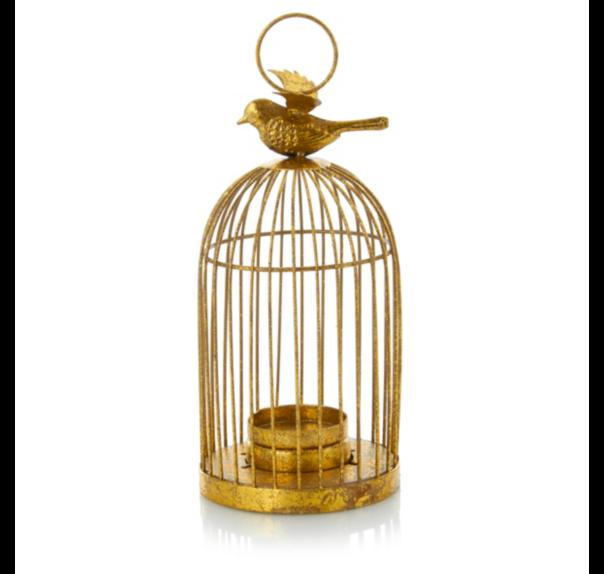 gold bircage tea light holder 6