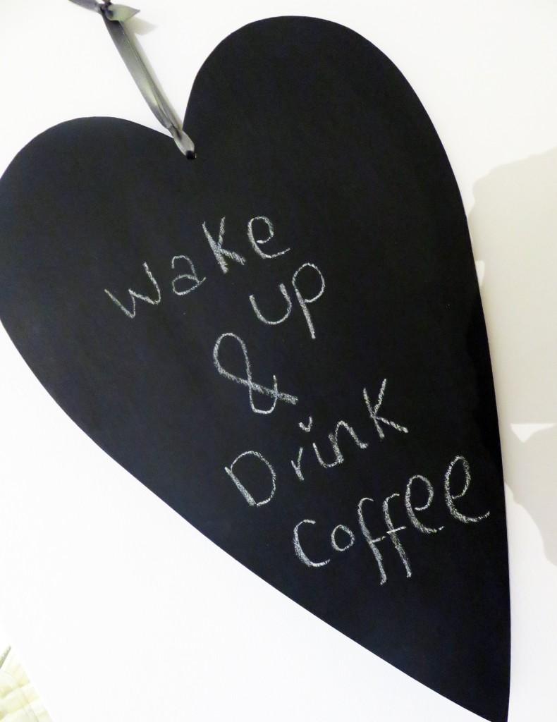 love heart chalk board