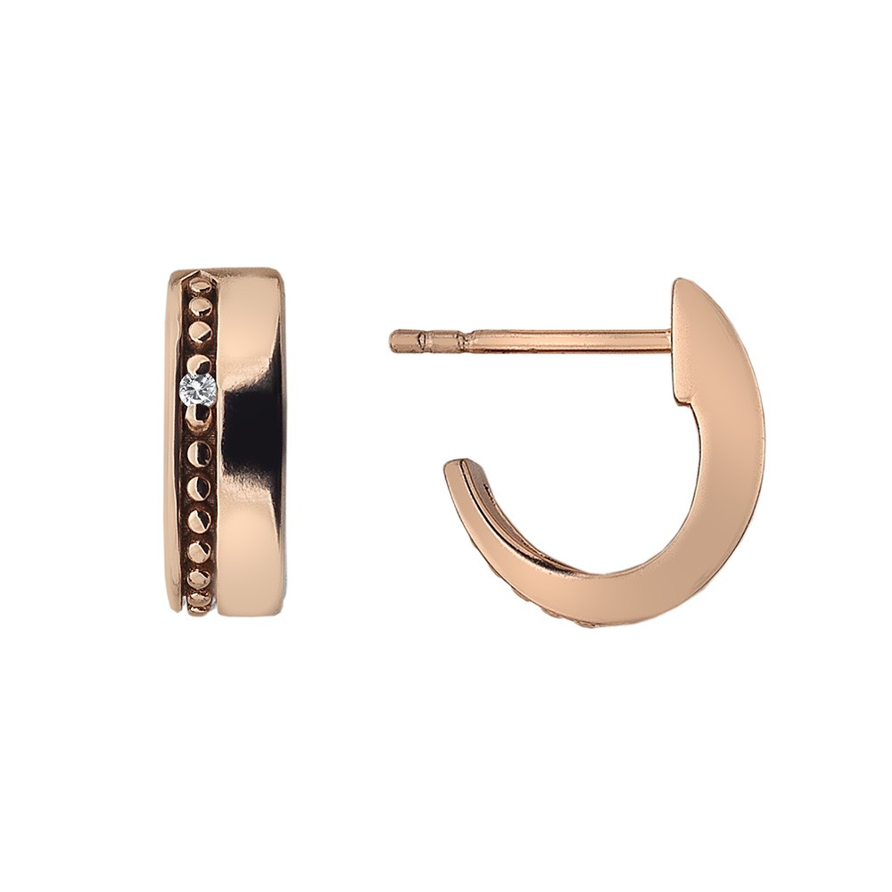 Hot Diamonds Rose Gold Cuff Earrings