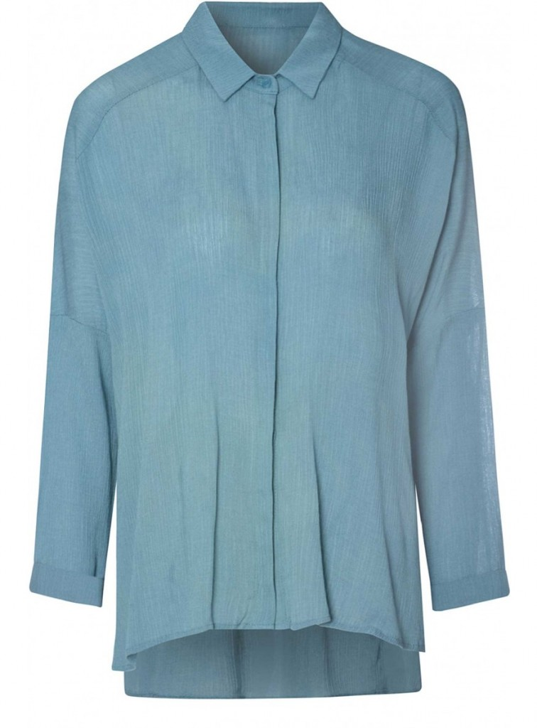 glamorous teal crepe blouse £23