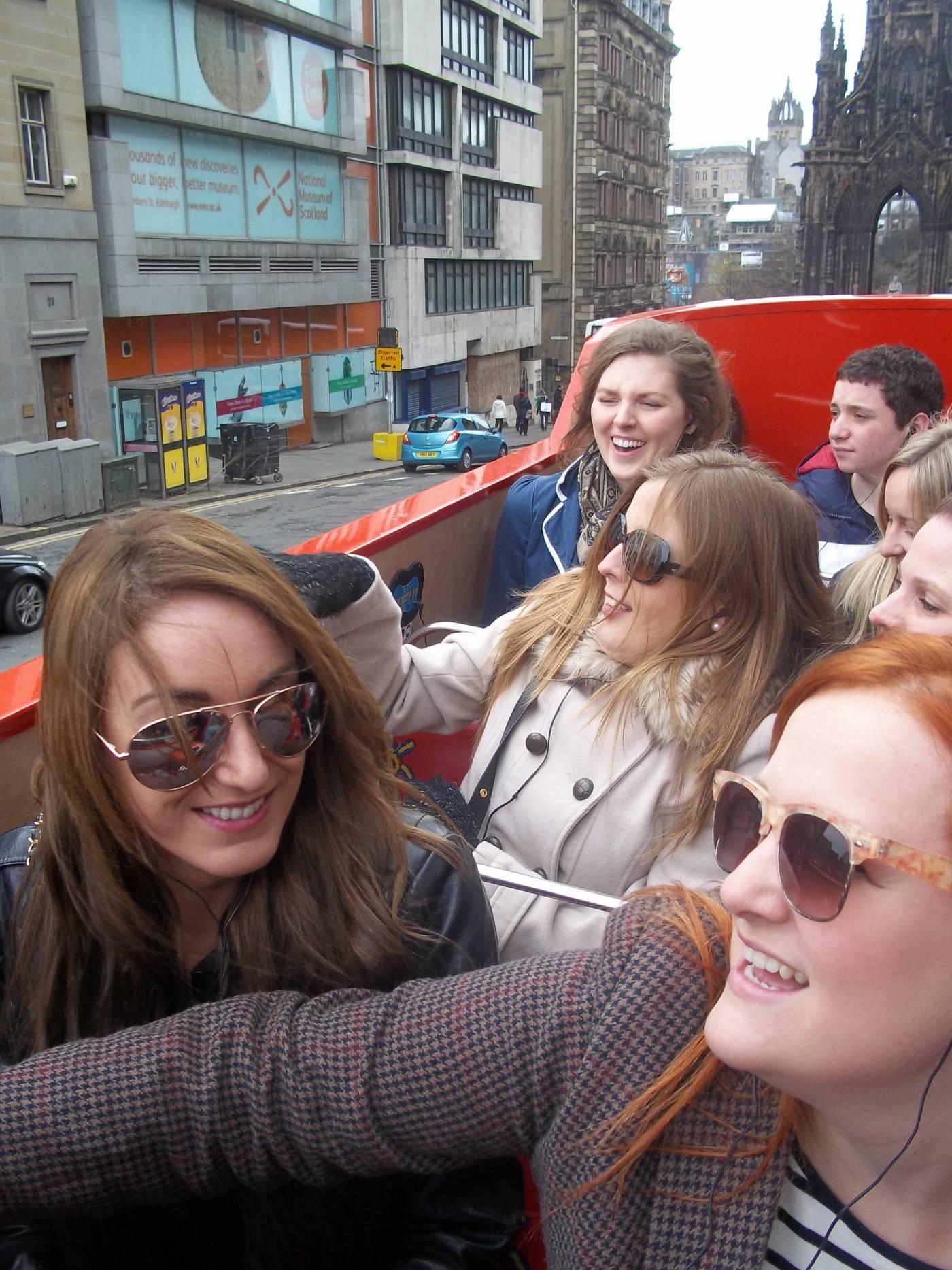 edinburgh open top bus