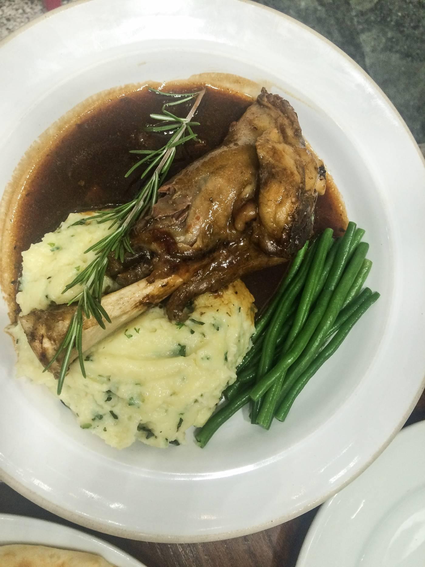 lamb and mash
