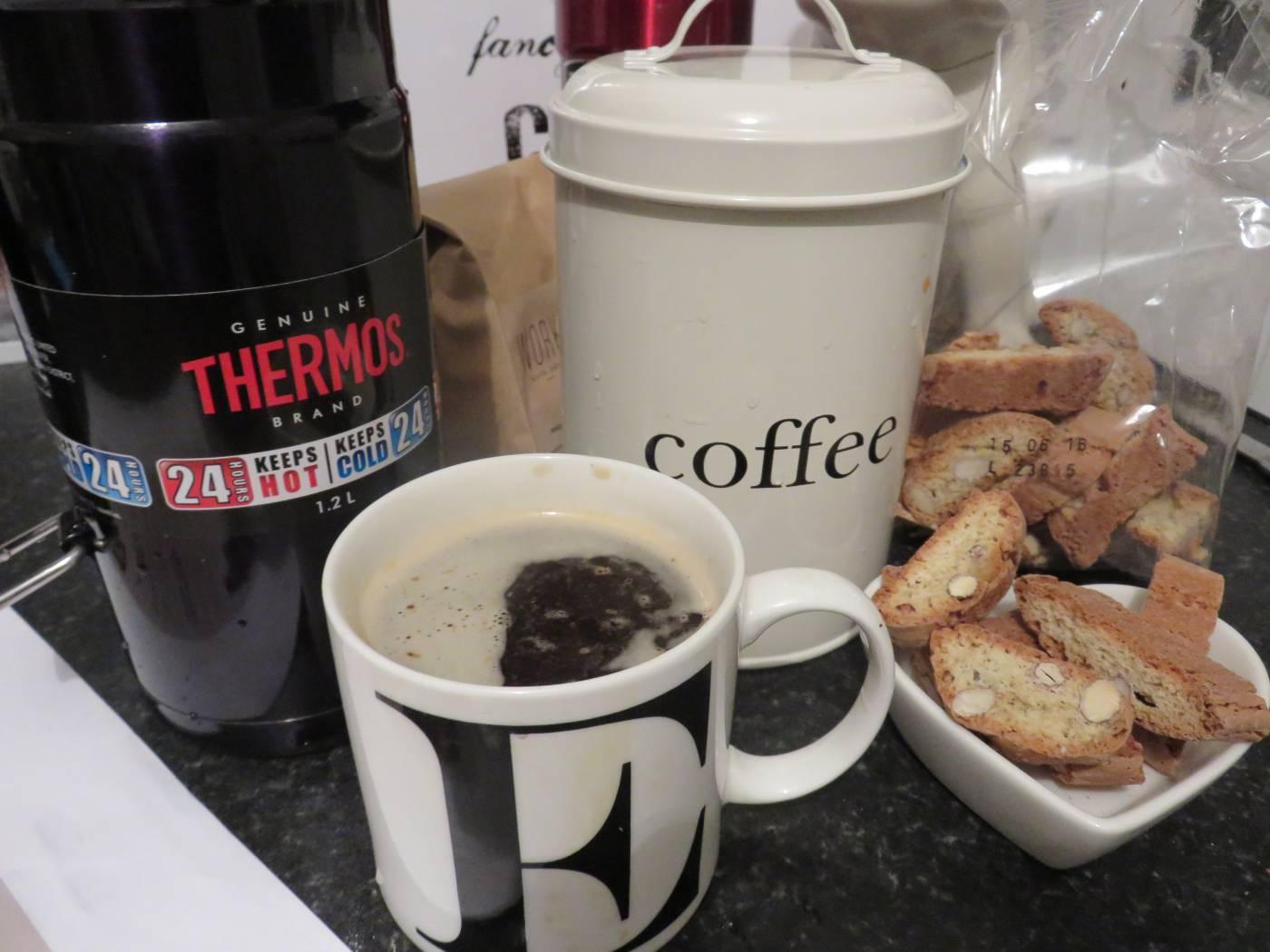 thermos overnight coffee