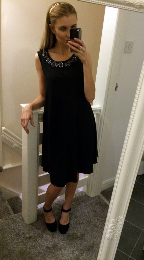 black embelished dress