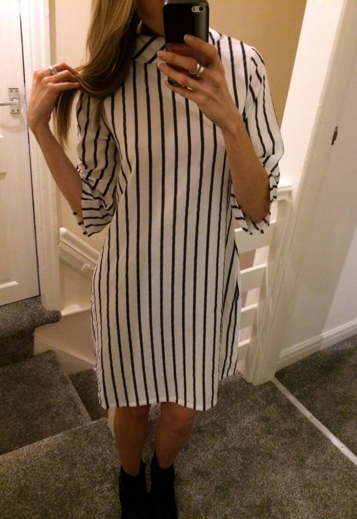 ark stripe shirt dress