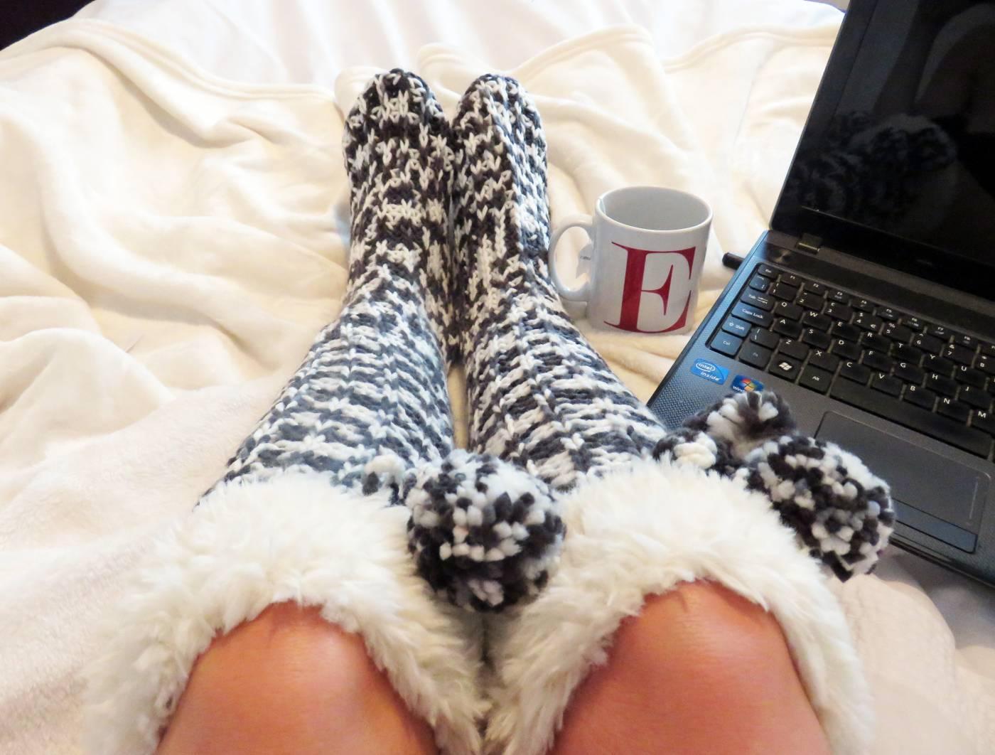 cosy knee socks