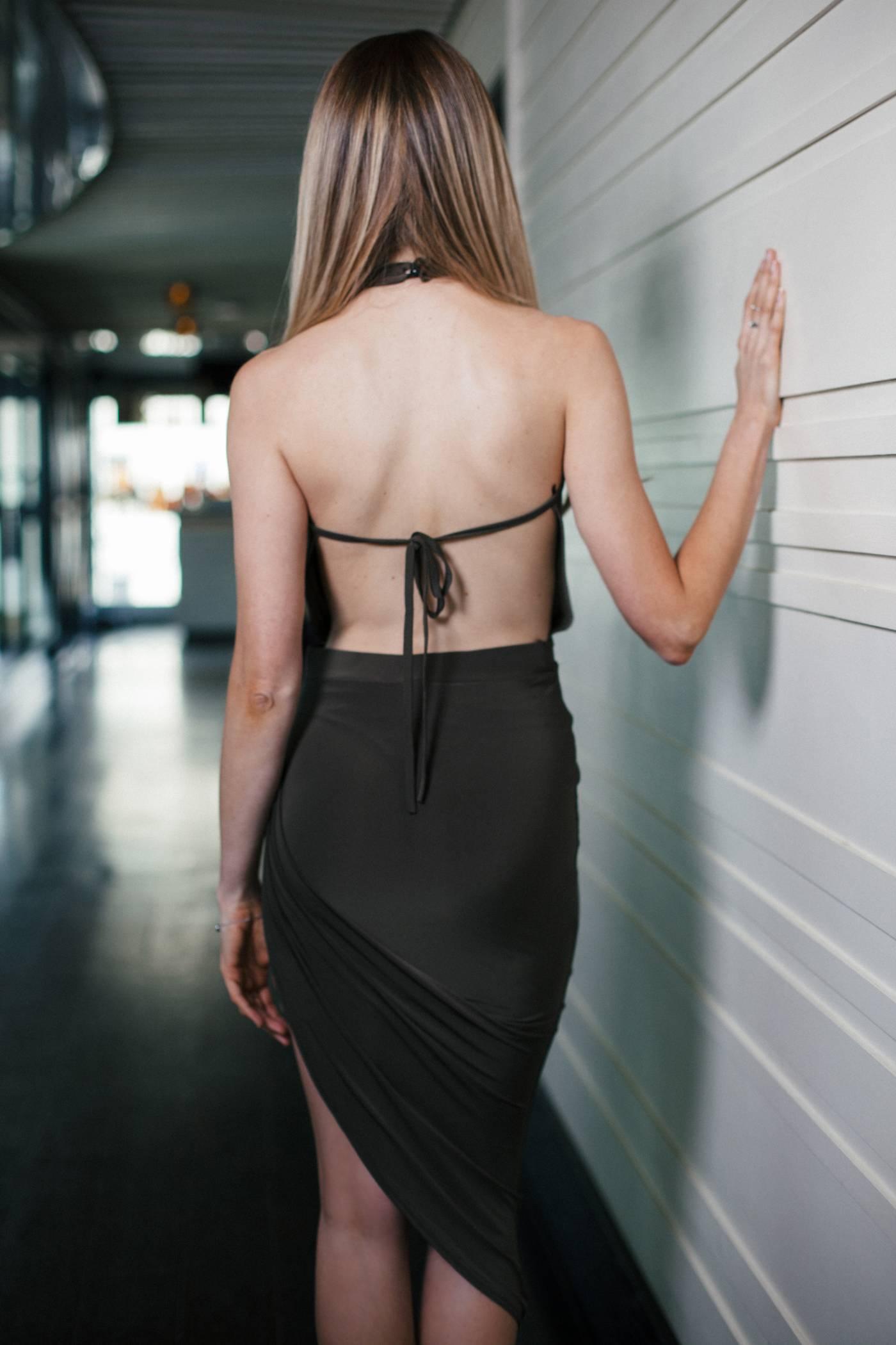 Sweet-Nothing-Khaki-Dress-Back