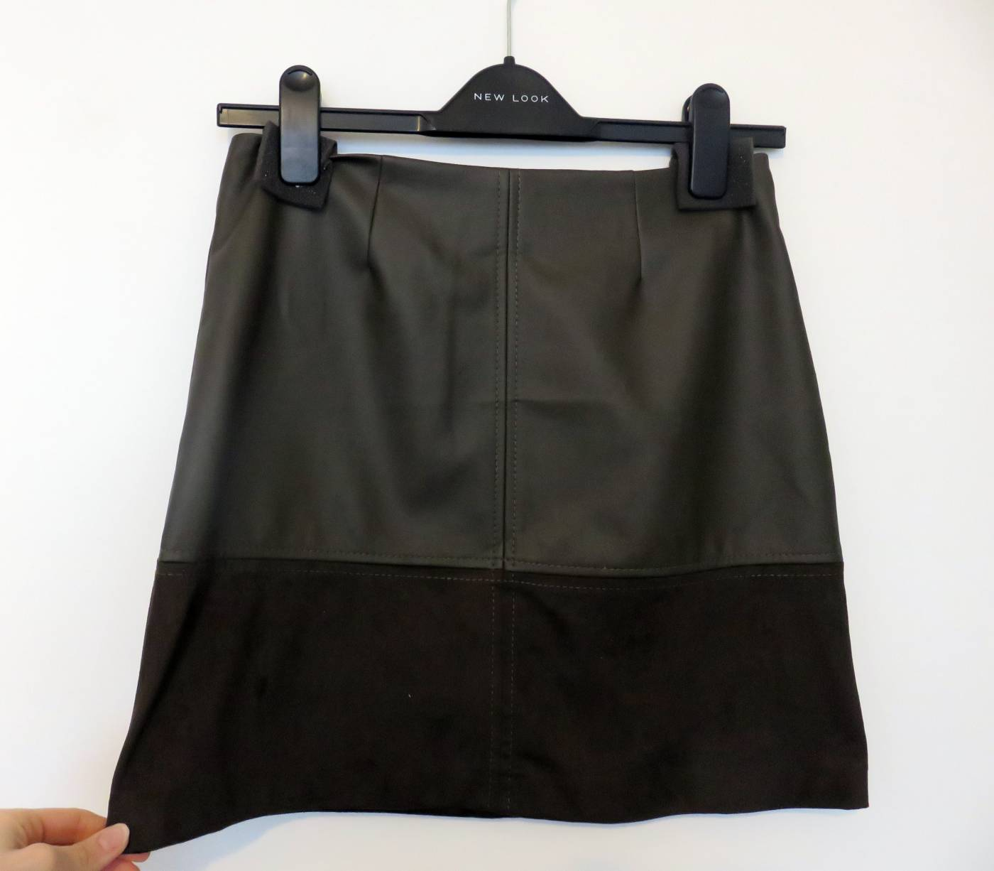 new look faux leather skirt