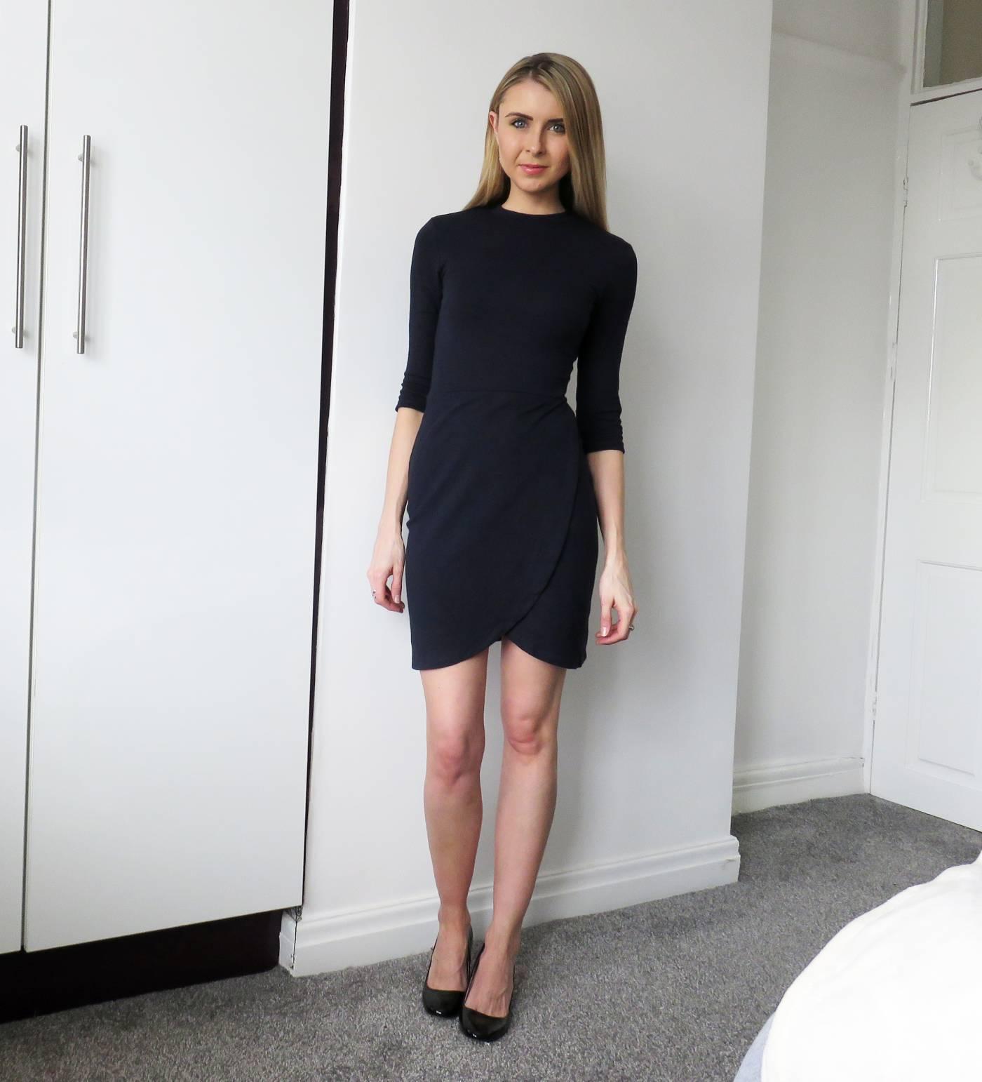topshop navy dress