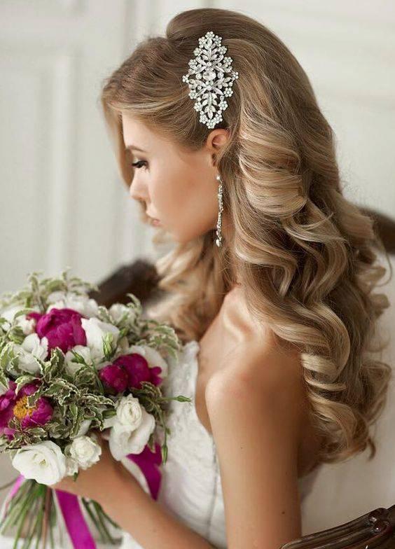 vintage curls bridal