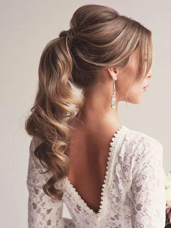 side ponytail bridal