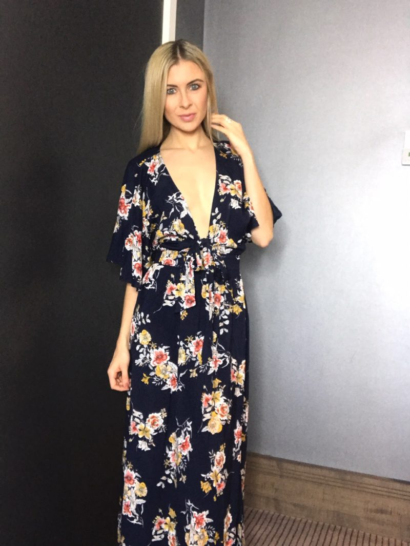 9ec4718fb5 ... Seafolly Mid Summer Florals Maxi Beach Dress in Indigo. As you can see,  with it's dark navy/indigo colourway and plunging neckline, ...